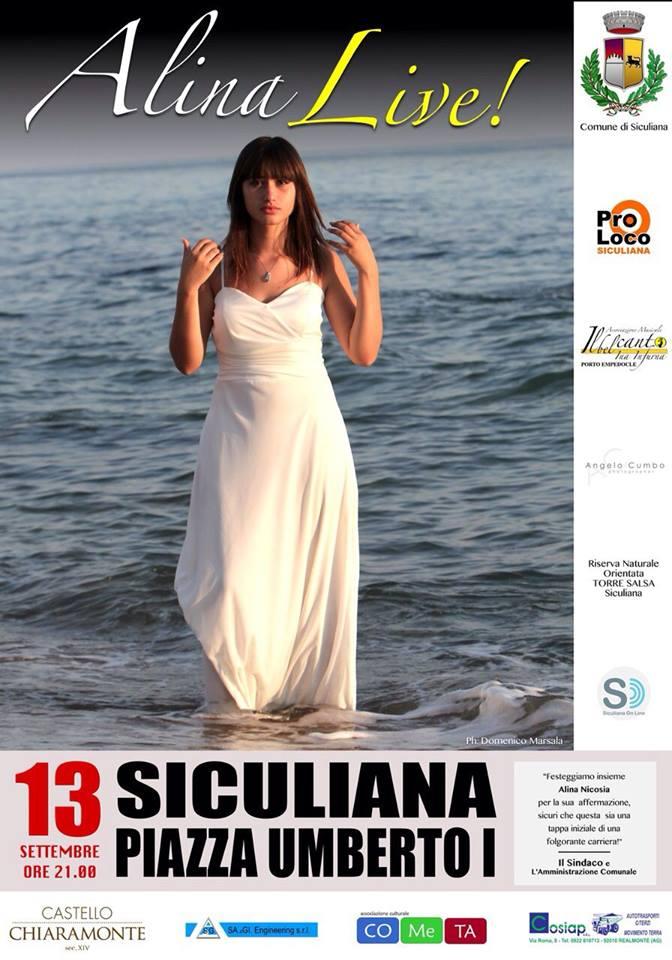 Alina Nicosia in concerto a Siculiana