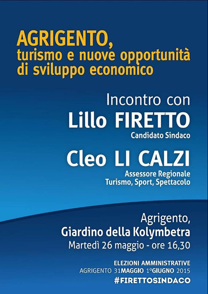 Li Calzi ad Agrigento con Firetto, gli altri candidati a sindaco denunciano scorrettezza degli assessori regionali Pizzo e Li Calzi