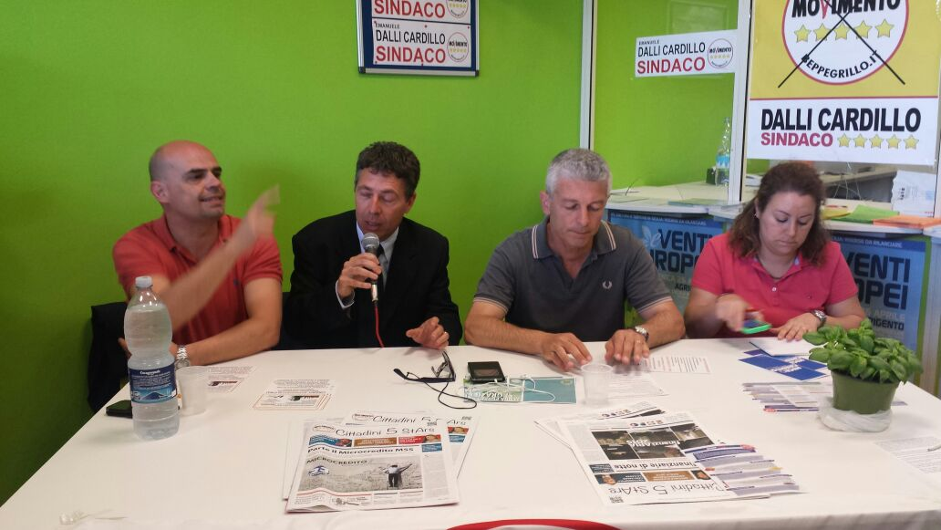 Emanuele Dalli Cardillo, Candidato sindaco di Agrigento per il M5S, incontra i docenti con il senatore Morra