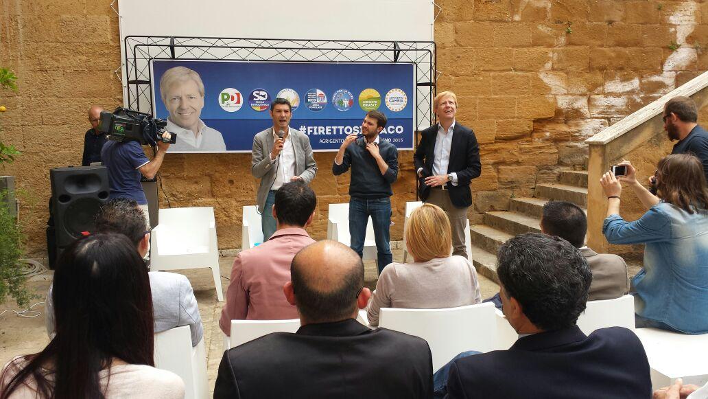 Firetto e Raciti presentano la lista dei candidati al consiglio comunale di Agrigento del PD