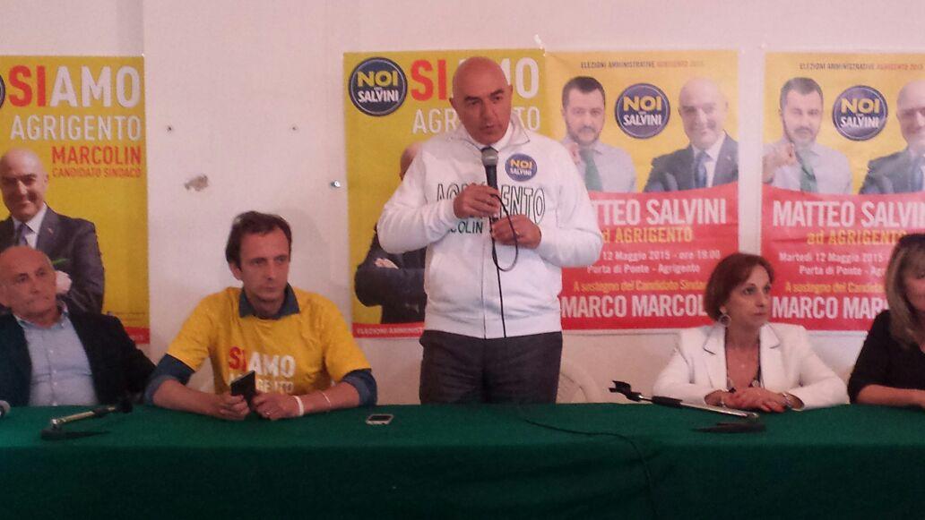Massimiliano Fedriga ad Agrigento per il sostegno a Marco Marcolin