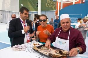 Cartabellotta con Carol Bouquet e Pietro Lipadusa