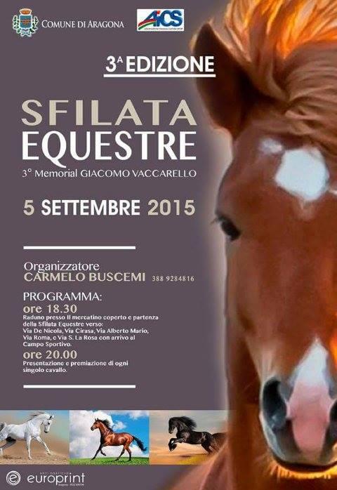 Sfilata equestre ad Aragona: terzo memorial Giacomo Vaccarello