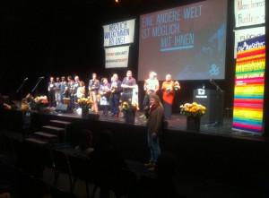 Un momento della cerimonia al Theaterhaus