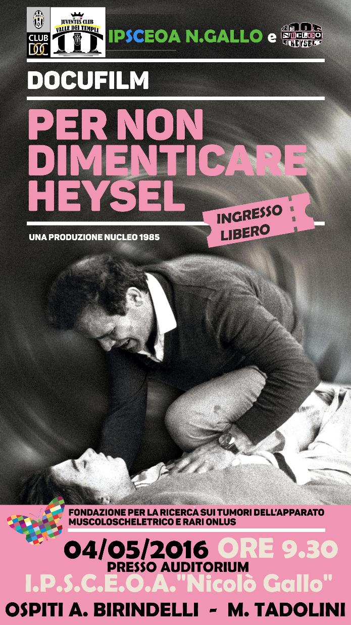 """""""Per non dimenticare Heysel"""" al Nicolò Gallo"""