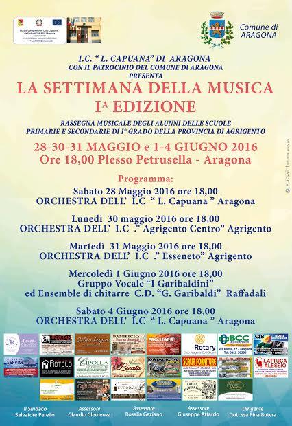Settimana della musica ad Aragona