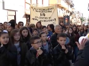 Siculiana. Tutti in piazza contro il centro Villa Sikania News Agrigentotv