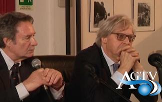 Visita ieri a Racalmuto dell'assessore regionale ai beni culturali Vittorio Sgarbi News Agrigentotv