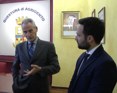 Il saluto del commissario capo della polizia di Stato, Vincenzo Di Piazza News Agrigentotv